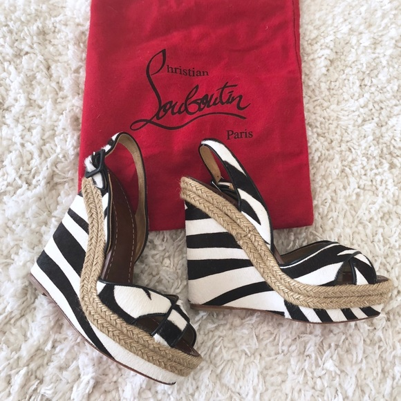 Christian Louboutin Cl Wedge Zebra Heel